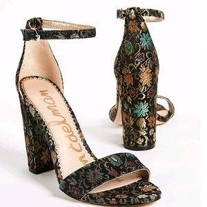 *NWT* Sam Edelman Yaro Floral Heeled Sandals